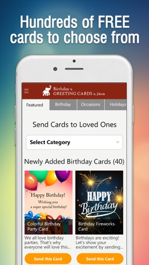 Birthday greeting cards on the app store screenshots bookmarktalkfo Choice Image
