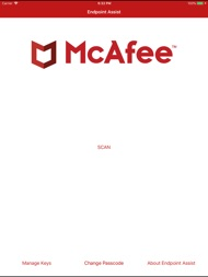 McAfee Endpoint Assistant ipad images
