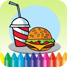 Food Coloring Book -  Drawing Painting for Kids Free Games