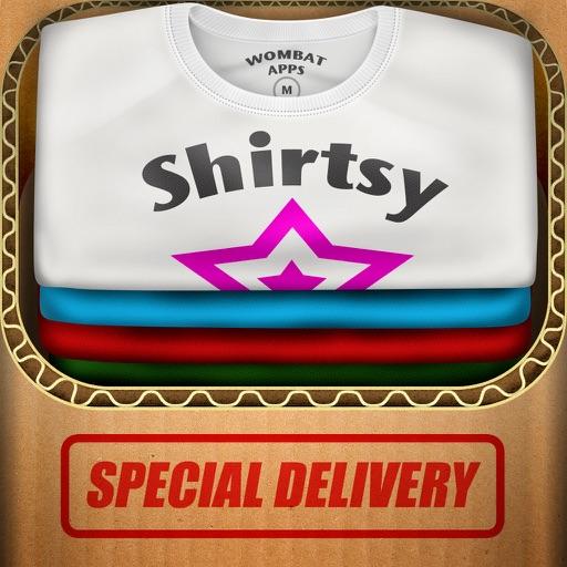 Shirtsy - Design and mail a custom shirt & clothing app logo