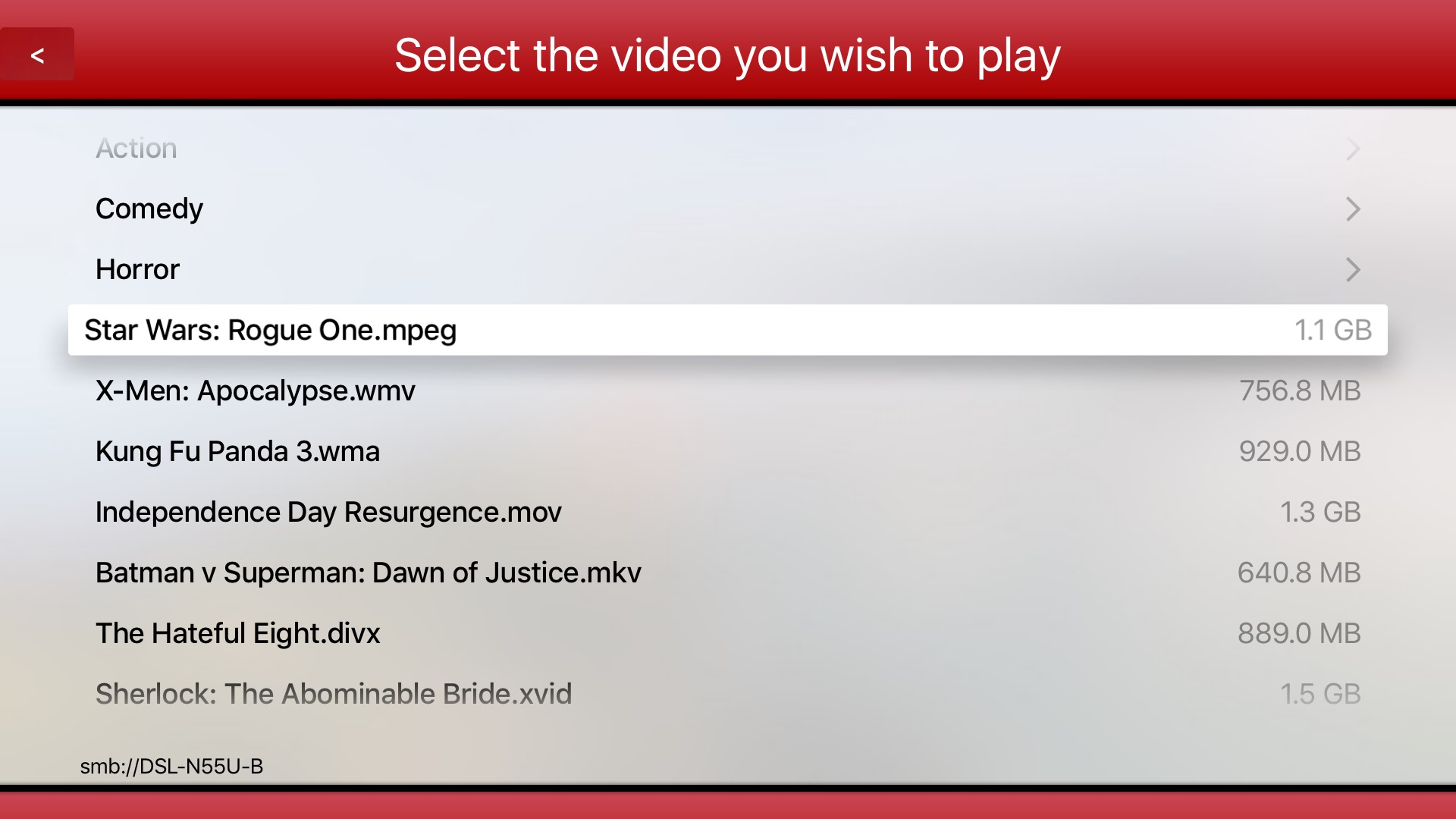 Video Player AviFAST for Most Movies Formats from NAS Media
