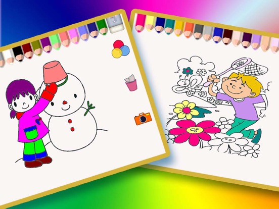 Children\'s Coloring Books - Drawing & Doodle Four Seasons in ...