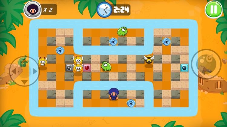 Ninja Boy Adventures - Bomberman edition screenshot-3
