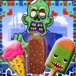 Zombie Ice Cream Factory Simulator - Learn how to make frozen snow cone,frosty icee popsicle and pops for zombies in this kitchen cooking game