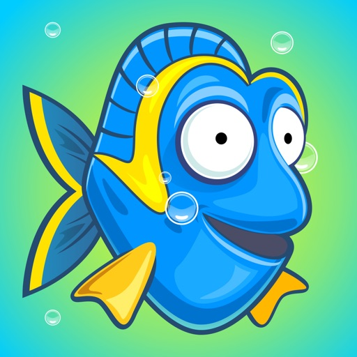 Blue Fishy in the Deep Sea