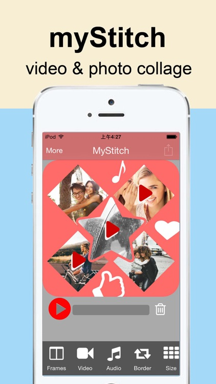 myStitch Video Collage - the best video collage maker for instagram, vine and youtube screenshot-0