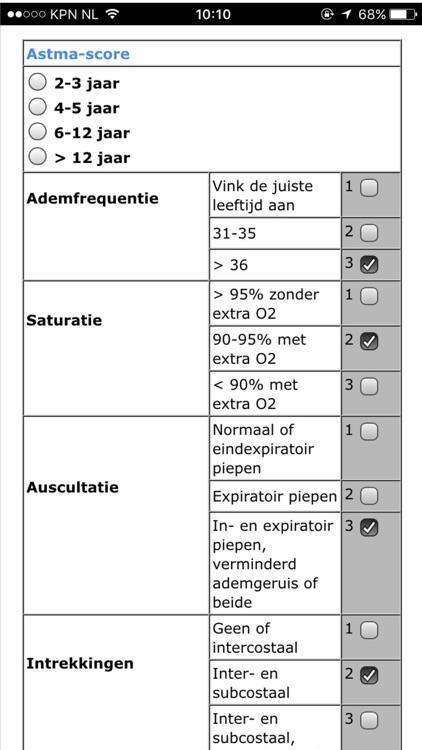 Scores kindergeneeskunde screenshot-3