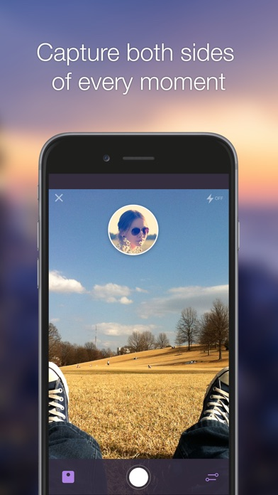 Screenshot #1 for SelfBack - Selfie & Back Camera
