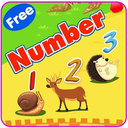 Impara l'inglese V1: imparare i numeri da 1 a 10 - Giochi di istruzione gratuita per i bambini e bambini