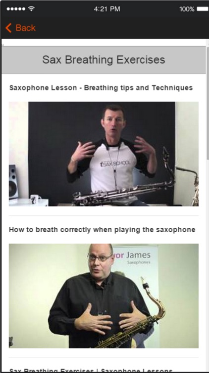 Saxophone Tutorials and Lessons For Beginners screenshot-3