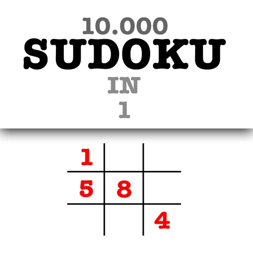 10 000 Sudoku Level in 1 Big Set - Free