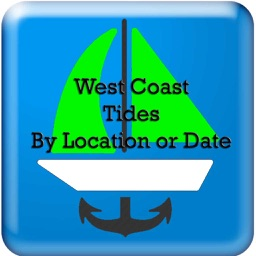 West Coast Tides Hi-Low by Date and Location