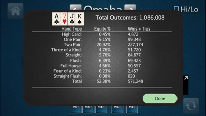 HORSE Poker Calculator Screenshots