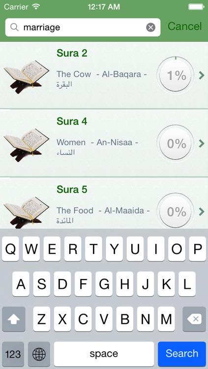 Quran Tajweed Audio mp3 in English, in Arabic and in Phonetic Transcription screenshot-4