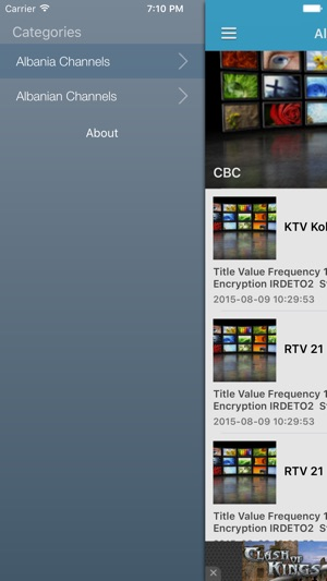 Albania TV Channels Sat Info on the App Store