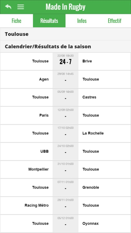 Rugby infos