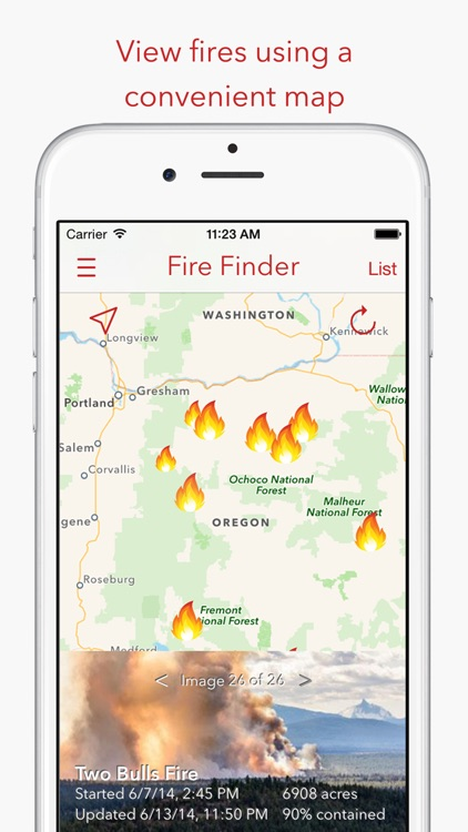 Fire Finder - Wildfire Info, Images and More screenshot-0