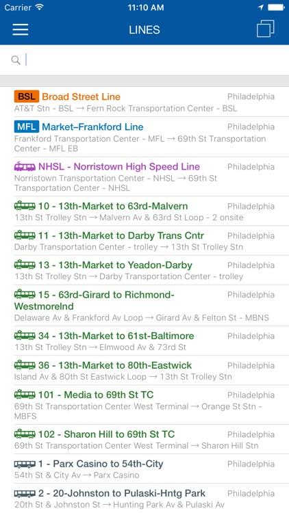 ezRide Philadelphia SEPTA - Transit Directions for Bus, Subway and Rail including Offline Planner screenshot-4