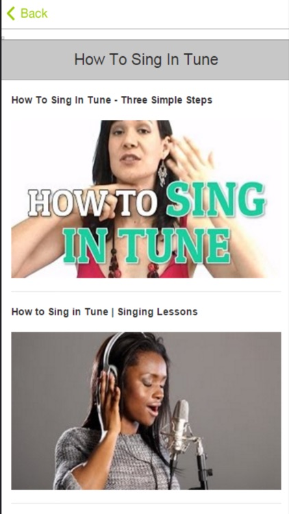 Singing Lessons - Learn How To Sing Better screenshot-3