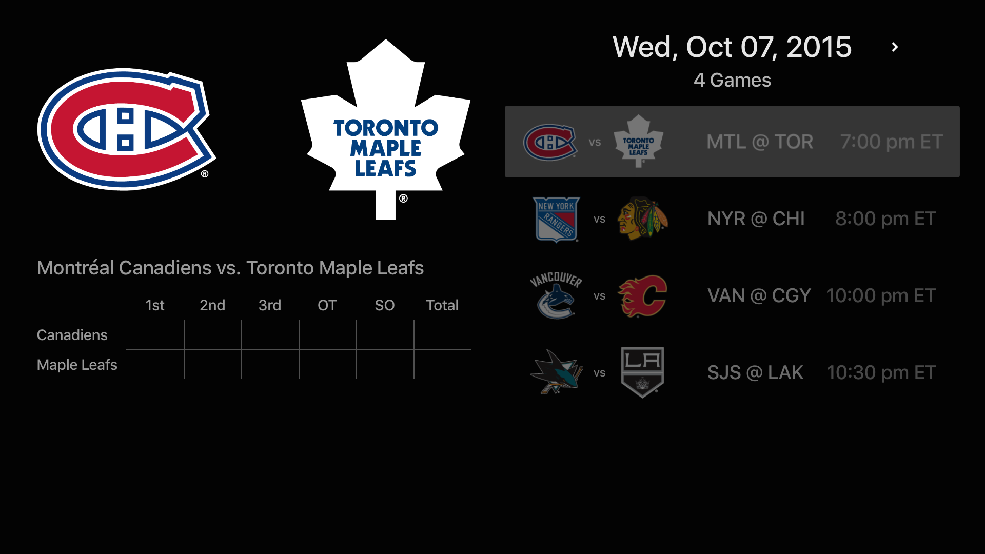 NHL screenshot 20