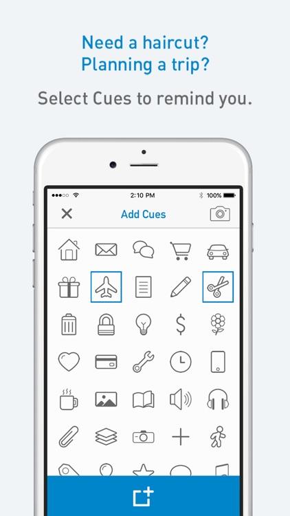 cuecard visual to do list tasks reminders screenshot 1