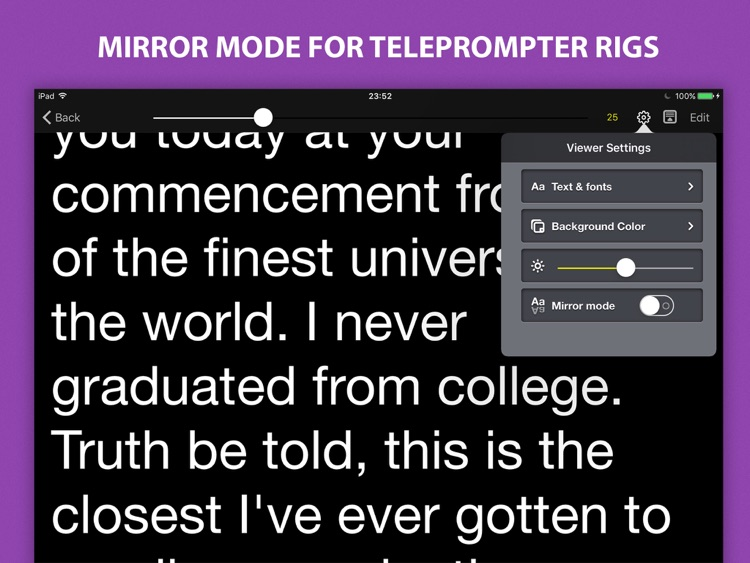 Voice Teleprompter - Speech Prompter with Smart Scrolling screenshot-4