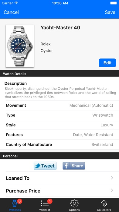 Watch, Clock, and Timepiece Collectors app image
