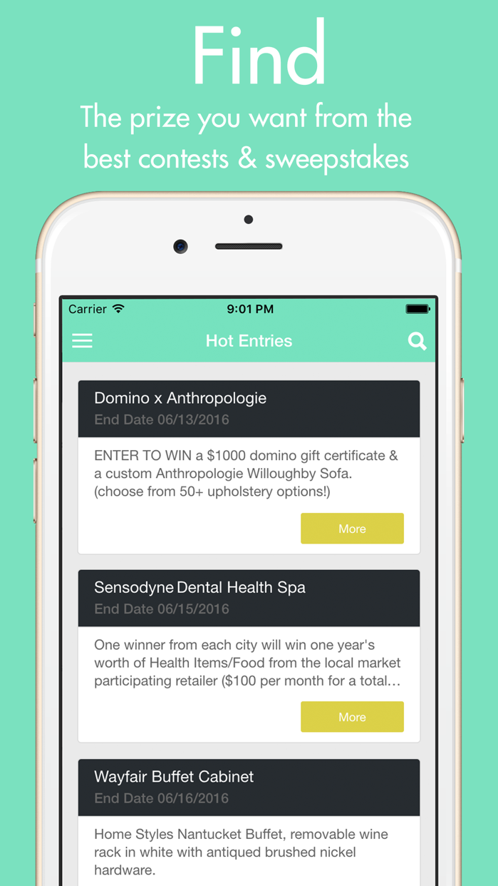 WinThings - Free Stuff, Prizes, Contests, Giveaways, & Sweepstakes Screenshot