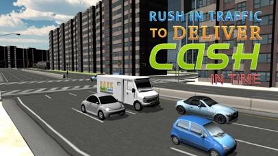 Bank cash van simulator - Transport dollars in money truck simulation game screenshot three