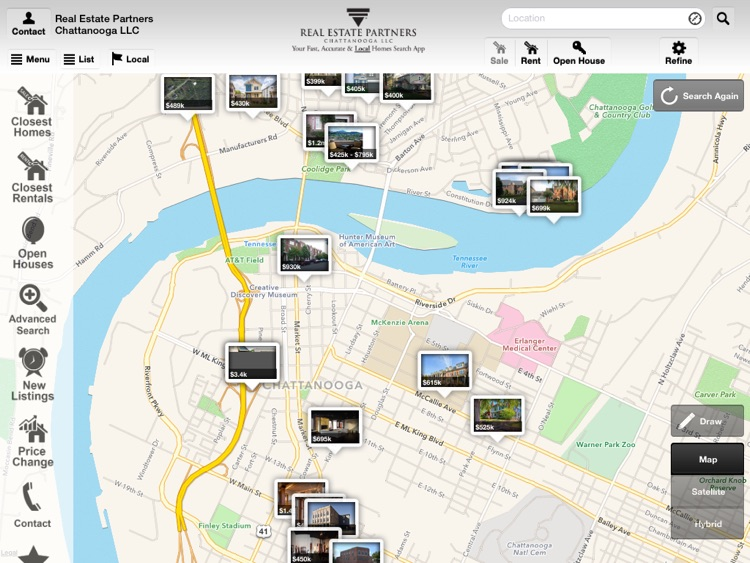 Chattanooga Homes for Sale for iPad