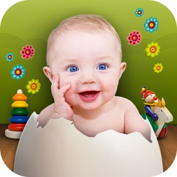 Future baby's face : make a baby, get baby pics and pick a name while pregnant (baby booth) !!