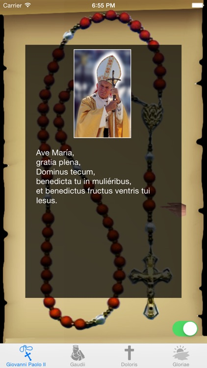 Interactive Rosary with St. John Paul II in Latin