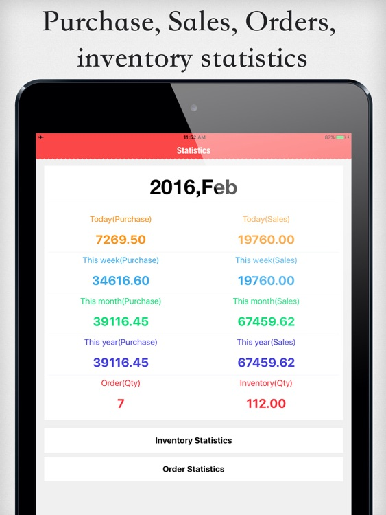Items Storage 3 for iPad - Retail inventory & Sales orders management
