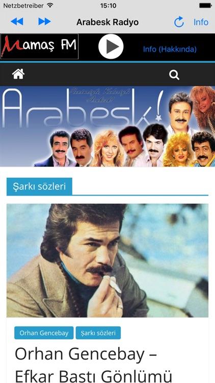 Arabesk Radyo Mamas FM screenshot-3