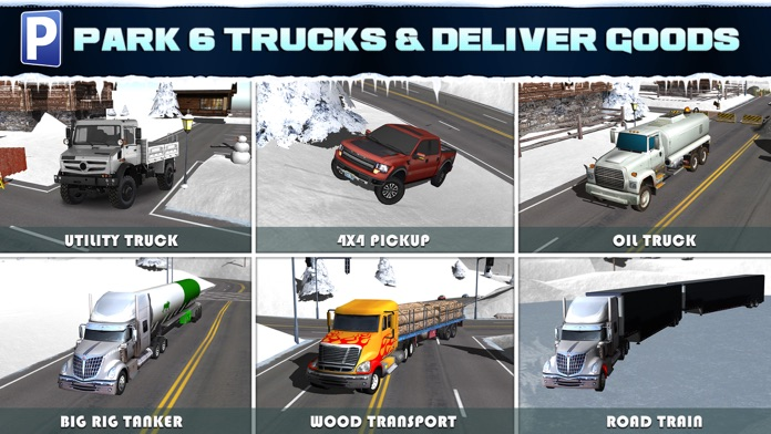 Ice Road Trucker Parking Simulator 2 a Real Monster Truck Car Park Racing Game Screenshot
