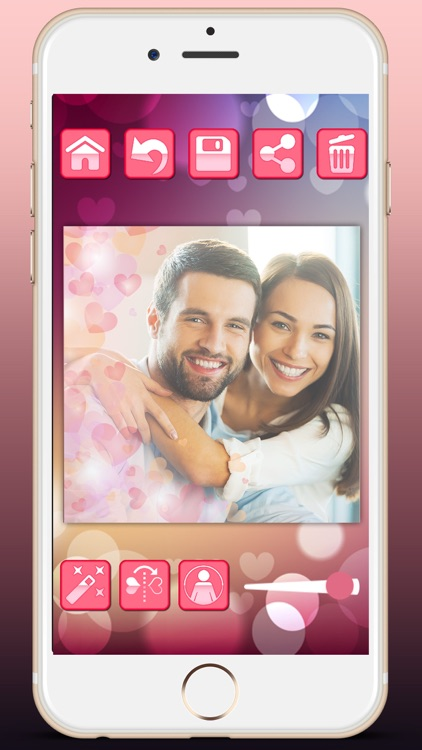 Love profile photo editor - for social networks in Valentine's Day