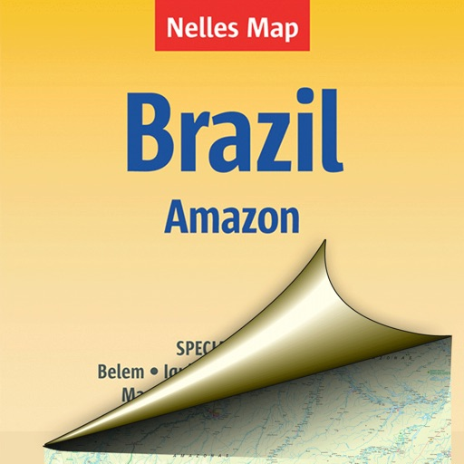 Brazil (Amazon). Tourist map.