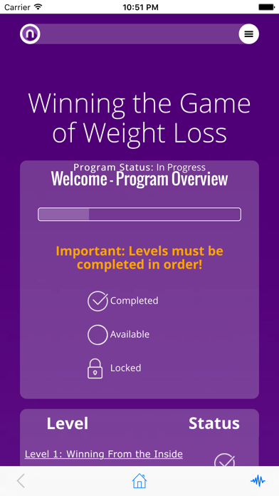 Winning The Game of Weight Loss screenshot two