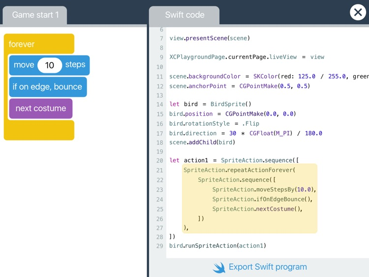 Switch - Programming from block to code screenshot-3