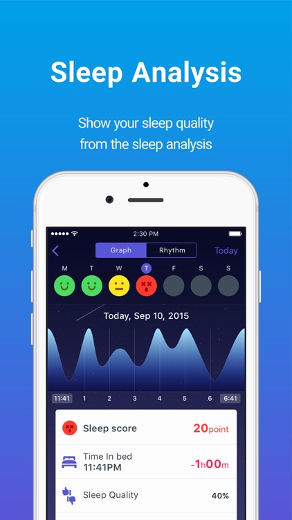 Sleepdays- Alarm clock for better sleep. screenshot-1