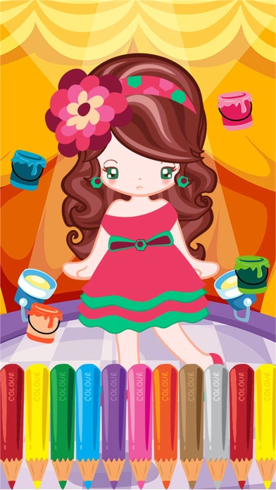 Little Girl Fashion Coloring World Drawing Educational