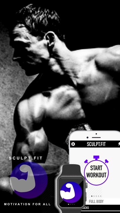 Screenshots of Sculpt Fitness - Free Bodybuilding Workout Challenge for Christmas by Sculpt.Fit for iPhone