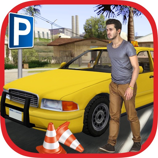 3D Taxi Car Driver Parking Game application logo