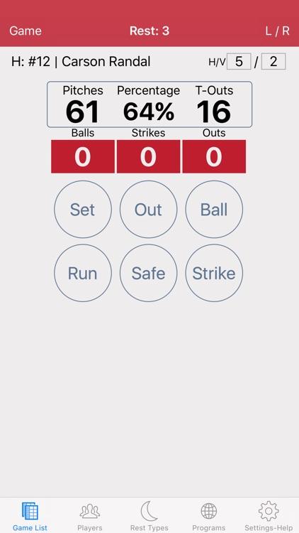Baseball/Softball Pitch Count