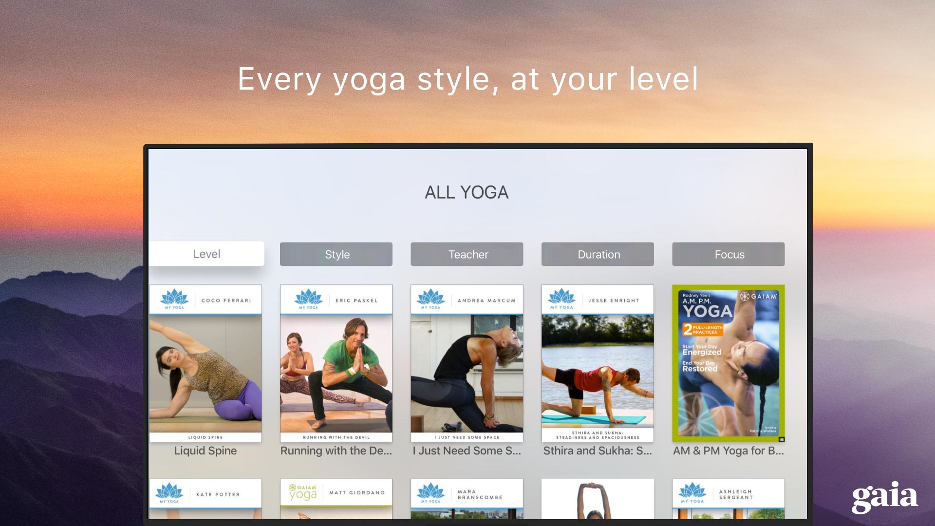 Gaia TV Discover Mindful Yoga screenshot 15