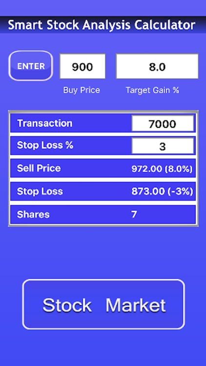 Smart Stock Transaction Calculator Premium