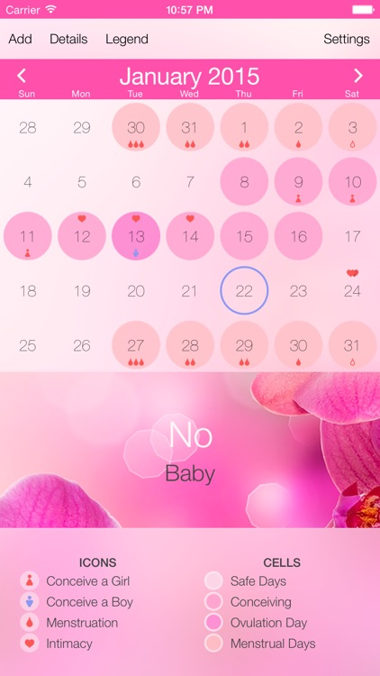 Ovulation Calculator & Fertility Tracker - Menstrual Calendar to Get Pregnant during Period