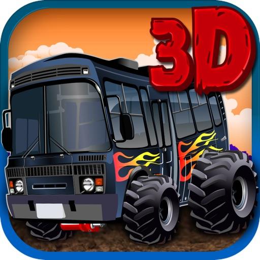 Monster Bus Simulator 3D - Crazy Wheels
