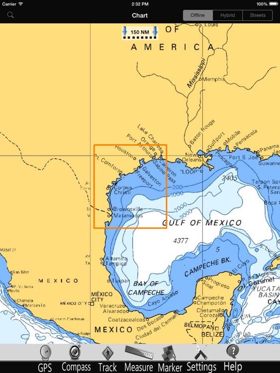 Texas GPS Nautical Charts Pro screenshot-3