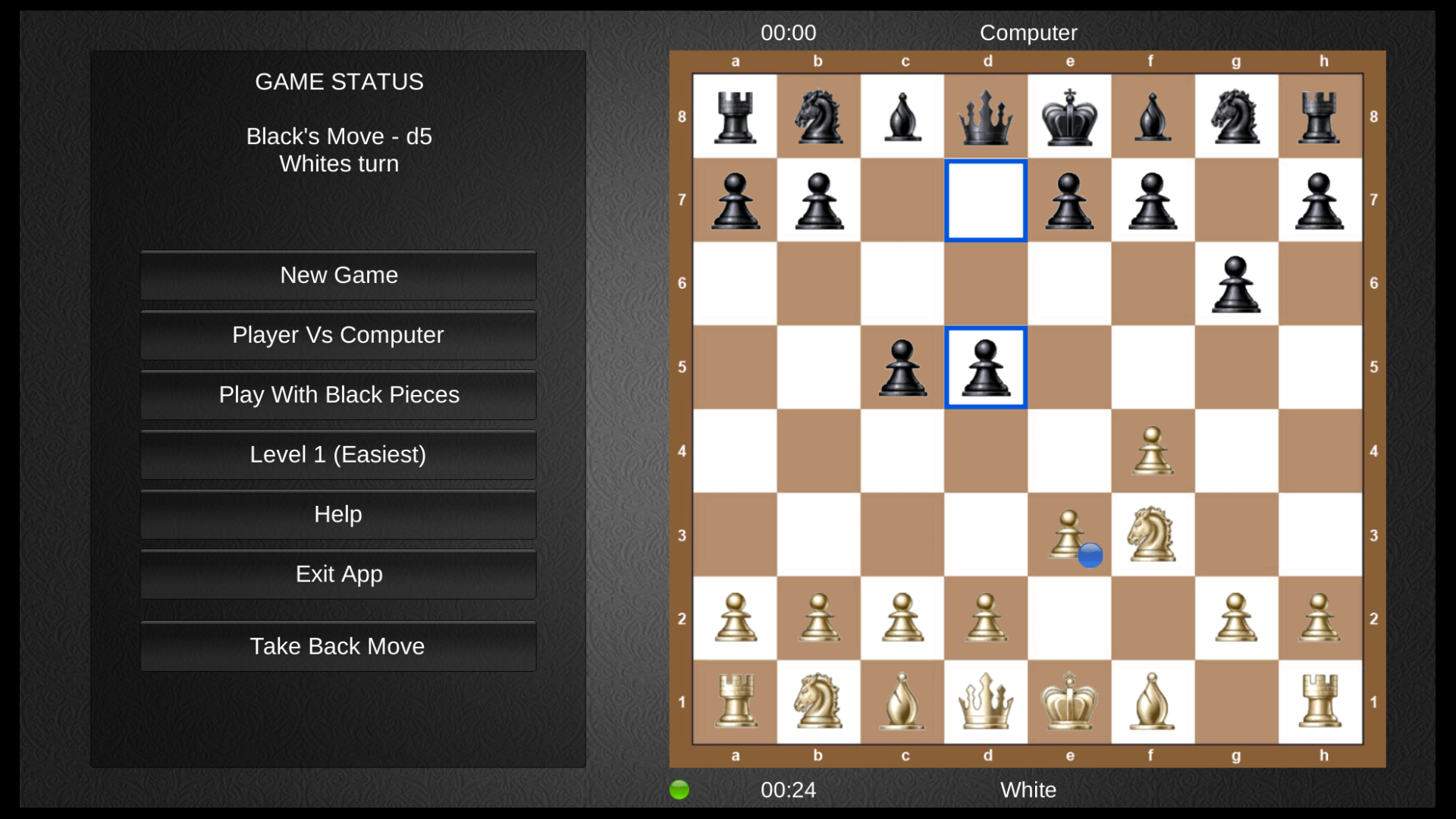 Chess for the TV screenshot 1